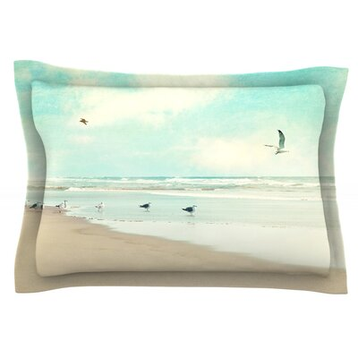 Away We Go by Sylvia Cook Featherweight Pillow Sham Size: Queen, Fabric: Cotton
