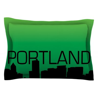Portland Featherweight Pillow Sham Size: King, Fabric: Cotton