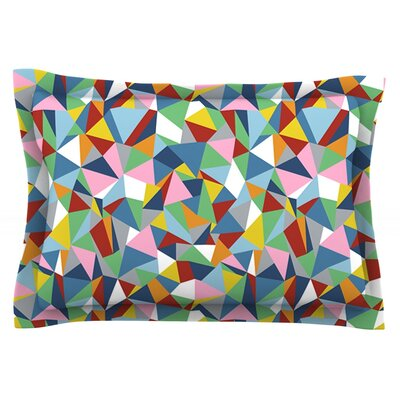 Abstraction by Project M Featherweight Pillow Sham Size: King, Fabric: Cotton