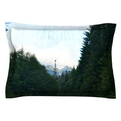 Go Get Lost by Robin Dickinson Featherweight Pillow Sham Size: Queen, Fabric: Cotton
