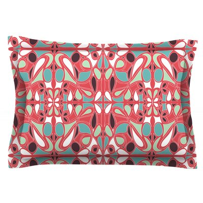 Stained Glass Pink by Miranda Mol Featherweight Pillow Sham Size: King, Fabric: Cotton