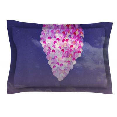 Never Stop Exploring IV by Monika Strigel Featherweight Pillow Sham Size: Queen, Fabric: Cotton
