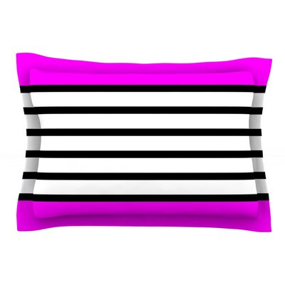 Sest Redaka by Trebam Featherweight Pillow Sham Size: Queen, Color: Pink/Magenta White