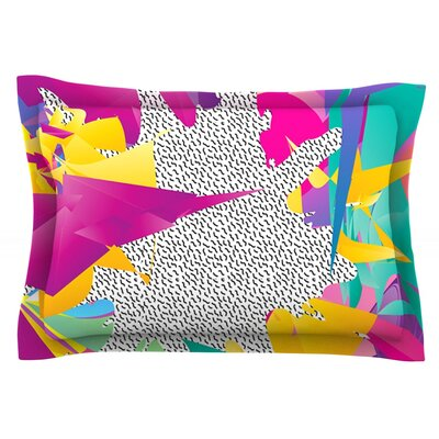 80s Abstract by Danny Ivan Featherweight Pillow Sham Size: Queen, Fabric: Cotton