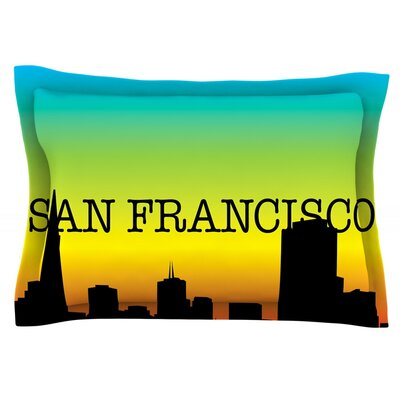 San Francisco Featherweight Pillow Sham Size: King, Fabric: Cotton