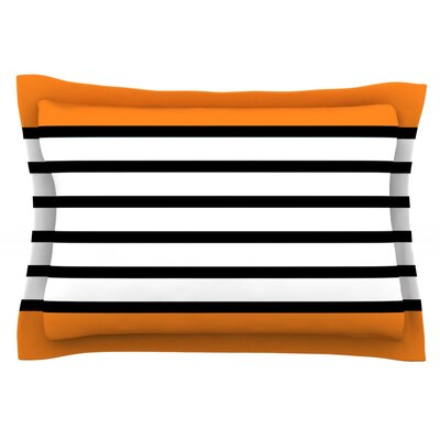 Sest Redaka by Trebam Featherweight Pillow Sham Size: Queen, Color: Orange/Tangerine