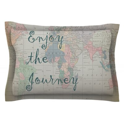Journey by Catherine Holcombe Featherweight Pillow Sham Size: Queen, Fabric: Cotton