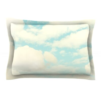 Clouds by Sylvia Cook Featherweight Pillow Sham Size: King, Fabric: Cotton