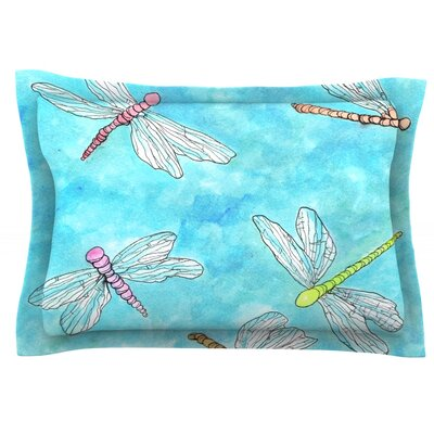Dragonfly by Rosie Brown Featherweight Pillow Sham Size: King, Fabric: Cotton