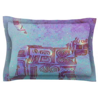 Panther at Night by Marianna Tankelevich Featherweight Pillow Sham Size: King, Fabric: Cotton