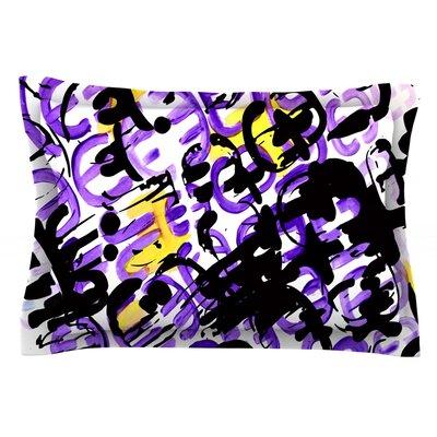 Theodoras Mess by Theresa Giolzetti Featherweight Pillow Sham Size: King, Fabric: Cotton
