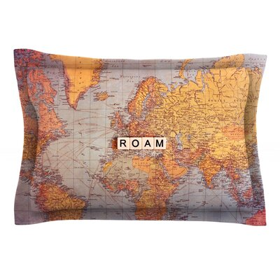 Seattle Skyline by Sylvia Cook Featherweight Pillow Sham Size: Queen, Fabric: Cotton