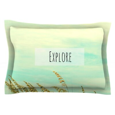 Explore by Robin Dickinson Featherweight Pillow Sham Size: Queen, Fabric: Cotton