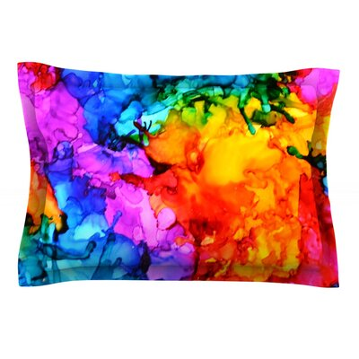 Sweet Sour II by Claire Day Featherweight Pillow Sham Size: King, Fabric: Cotton