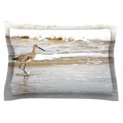 Counting the Waves by Robin Dickinson Featherweight Pillow Sham Size: Queen, Fabric: Cotton