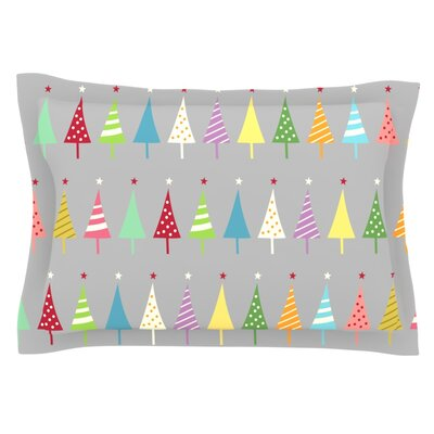 Crazy Trees by Snap Studio Featherweight Pillow Sham Size: King, Fabric: Cotton