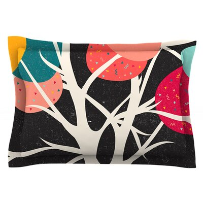 Lovely Tree by Danny Ivan Featherweight Pillow Sham Size: King, Fabric: Cotton