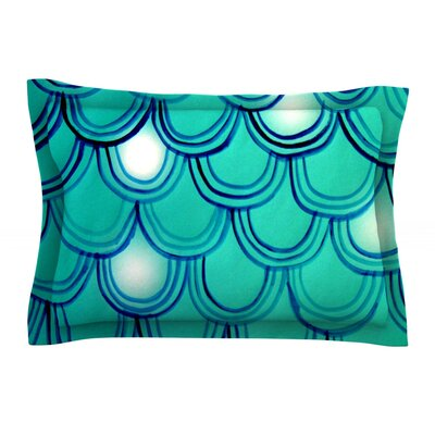 Mermaid Tail by Theresa Giolzetti Featherweight Pillow Sham Size: King, Fabric: Cotton