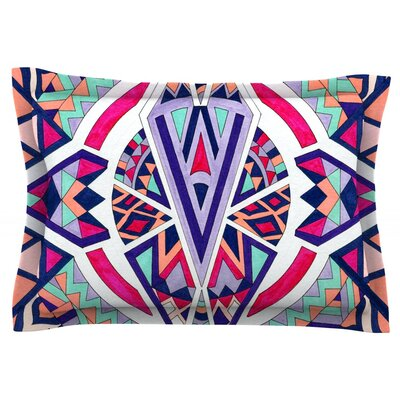 Abstract Journey by Pom Graphic Design Featherweight Pillow Sham Size: King, Fabric: Cotton