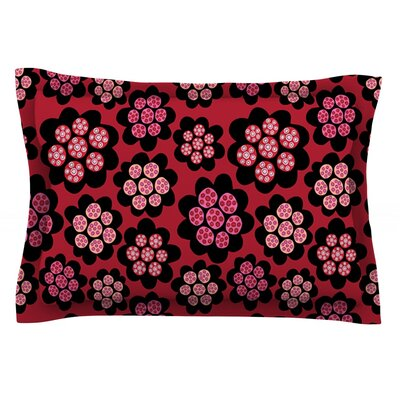Garden Pods Repeat by Jane Smith Featherweight Pillow Sham Size: Queen, Fabric: Cotton