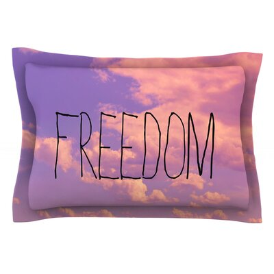 Freedom by Rachel Burbee Featherweight Pillow Sham Size: Queen, Fabric: Cotton