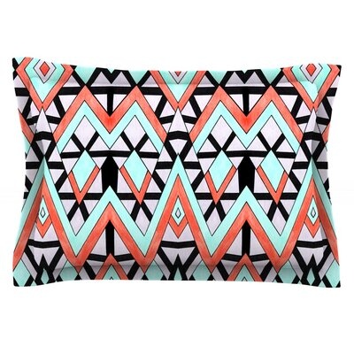 Geometric Mountains by Pom Graphic Design Featherweight Pillow Sham Size: Queen, Fabric: Cotton