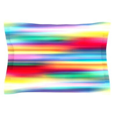 Blurry Cool by Danny Ivan Featherweight Pillow Sham Size: Queen, Fabric: Cotton
