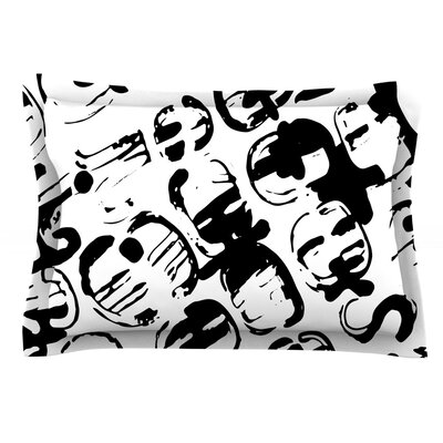 Theodoras Tantrum by Theresa Giolzetti Featherweight Pillow Sham Size: King, Fabric: Cotton