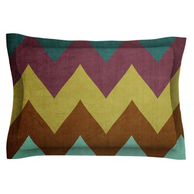Mountain High by Catherine McDonald Featherweight Pillow Sham Size: King, Fabric: Cotton