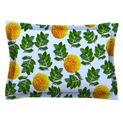 More Marigold by Sreetama Ray Featherweight Pillow Sham Size: King, Fabric: Cotton