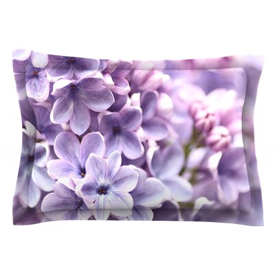 Lilac by Sylvia Cook Featherweight Pillow Sham Size: Queen, Fabric: Cotton