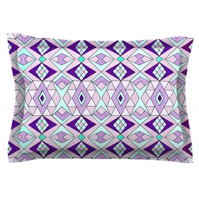 Geometric Flow by Pom Graphic Design Featherweight Pillow Sham Size: Queen, Fabric: Cotton