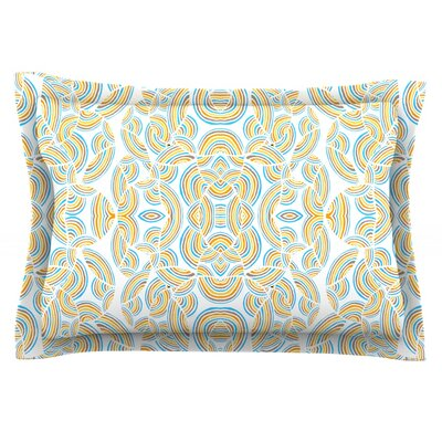Infinite Thoughts by Pom Graphic Design Featherweight Pillow Sham Size: King, Fabric: Cotton
