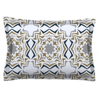 Ice Stars by Miranda Mol Featherweight Pillow Sham Size: Queen, Fabric: Cotton