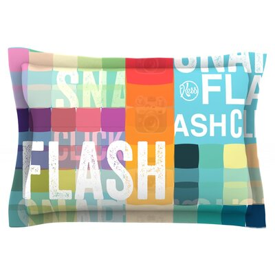 FLASH Featherweight Pillow Sham Size: King, Fabric: Cotton