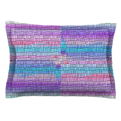 Drip Dye Strid by Nina May Featherweight Pillow Sham Size: Queen, Fabric: Cotton