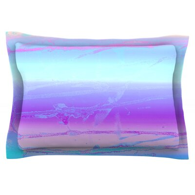 Drip Dye Cool by Nina May Featherweight Pillow Sham Size: King, Fabric: Cotton
