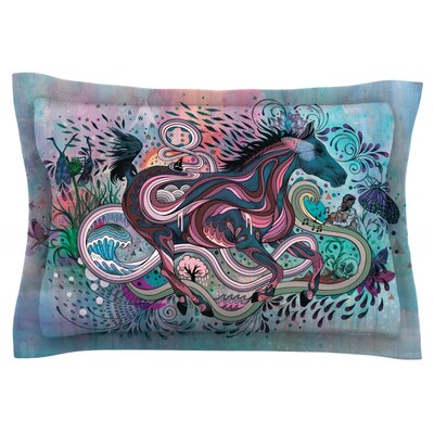 Poetry in Motion by Mat Miller Featherweight Pillow Sham Size: Queen, Fabric: Cotton