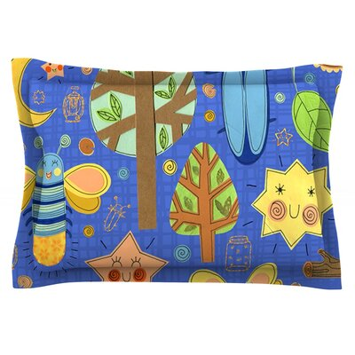 Lightning Bug by Jane Smith Featherweight Pillow Sham Size: Queen, Fabric: Cotton