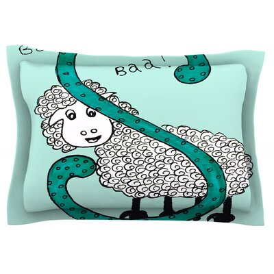 Sis for Sheep by Rosie Brown Featherweight Pillow Sham Size: King, Color: Blue, Fabric: Cotton