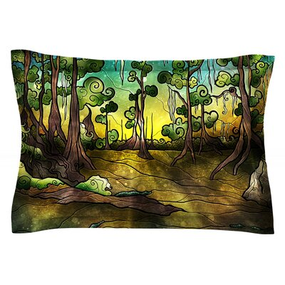 Aligator Swamp by Mandie Manzano Featherweight Pillow Sham Size: Queen, Fabric: Cotton