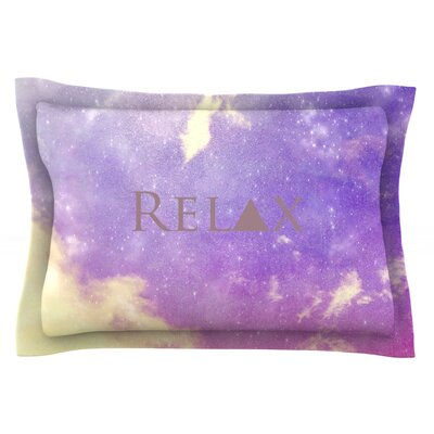 Relax by Rachel Burbee Featherweight Pillow Sham Size: King, Fabric: Cotton
