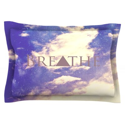 Breathe by Rachel Burbee Featherweight Pillow Sham Size: King, Fabric: Cotton