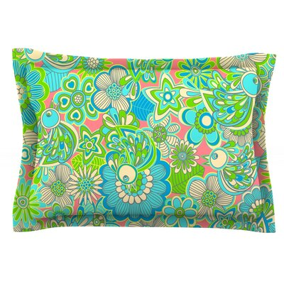 Welcome Birds to my Garden by Julia Grifol Featherweight Pillow Sham Size: King, Fabric: Cotton