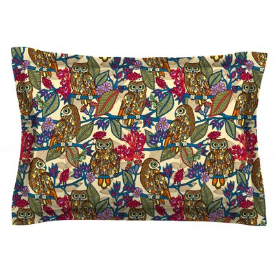 My Boobooks Owls by Julia Grifol Featherweight Pillow Sham Size: Queen, Fabric: Cotton