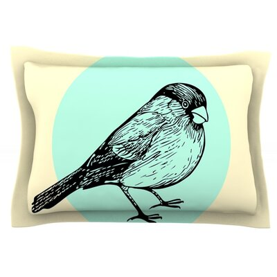 Old Paper Bird by Sreetama Ray Featherweight Pillow Sham Size: King, Fabric: Cotton
