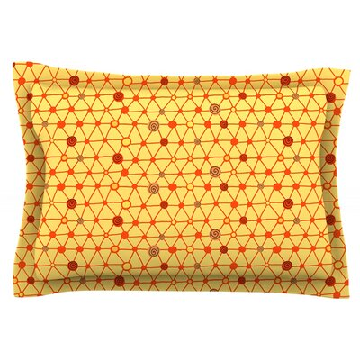 Vintage Playground by Jane Smith Featherweight Pillow Sham Size: Queen, Fabric: Cotton