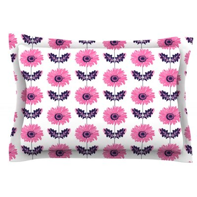 Gerbera by Laura Escalante Woven Pillow Sham Size: Queen, Color: Pink