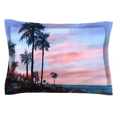 Florida Sunset by Rosie Brown Featherweight Pillow Sham Size: Queen, Fabric: Cotton