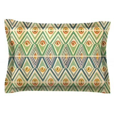 Celebration by Pom Graphic Design Featherweight Pillow Sham Size: King, Fabric: Cotton